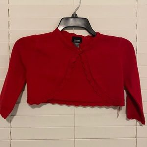 Holiday Editions Red Shrug Sweater